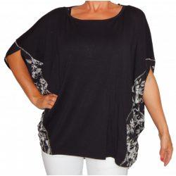 Desigual női fekete felső Ts Camiseta Pat43