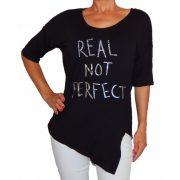Desigual női fekete felső Ts Real Not Perfect
